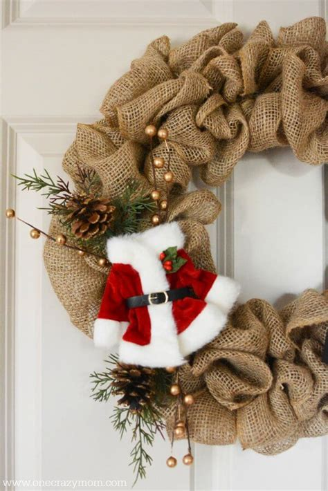 wreath christmas burlap wreaths diy onecrazymom learn easy simple close crafts