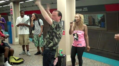 Funny Video Drunk Guy Dancing In The Chicago Subway