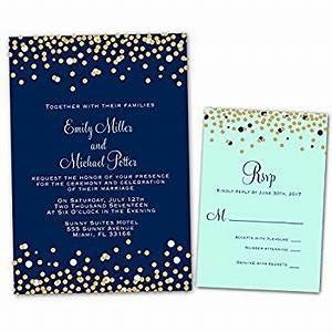 amazoncom 100 wedding invitations navy blue mint green With royal blue wedding invitations amazon