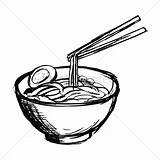 Noodles Bowl Noodle Drawing Coloring Soup Vector Pages Getdrawings Again Bar Looking Case Don sketch template