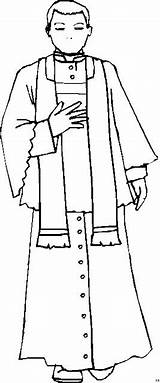 Priester Sacerdote Sacerdotes Besorgt Clergyman Colorin Ausmalbild sketch template