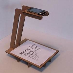 cardboard iphone document scanner With document scanning stand