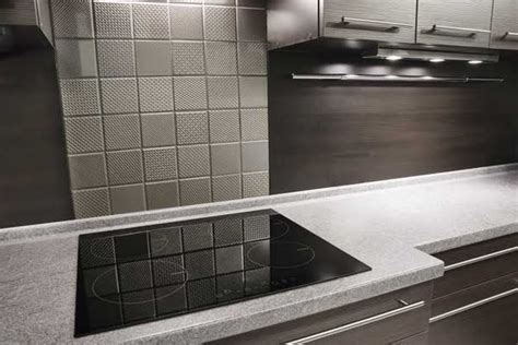 Textured Stainless Steel Backsplash : Stainless Steel For The Kitchen Wall Tiles Sector
