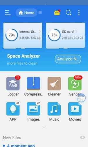 es file explorer file manager app released for tizen mobiles iot gadgets