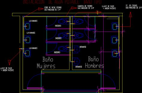 water provision  sanitary dwg block  autocad