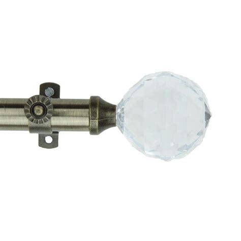 rod desyne curtain rod with acorn finials rod desyne 48 in 84 in telescoping curtain rod kit in