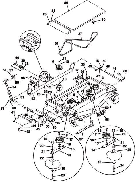 mower assembly model  deck  grasshopper mower