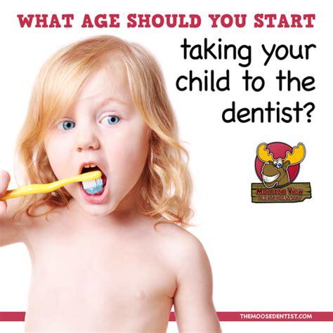 what age should you start taking your to the dentist 738 | MooseDentist Dentalcaretimelineheader