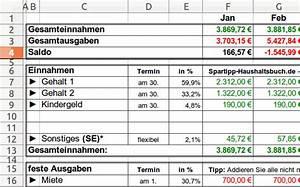 Wer Erstellt Nebenkostenabrechnung : excel haushaltsbuch download giga ~ Michelbontemps.com Haus und Dekorationen