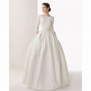 3 4 sleeves ball gown boat neckline beaded wedding dress With 3 4 sleeve ball gown wedding dress