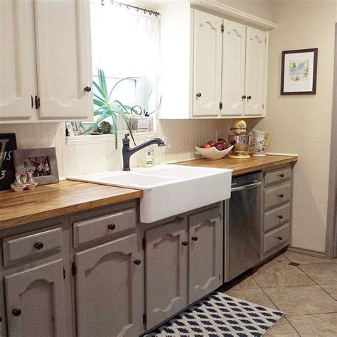2 tone gray kitchen cabinets best 25 two toned cabinets ideas on two tone