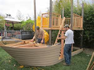 Pirate Ship Outdoor Playhouse Plans
