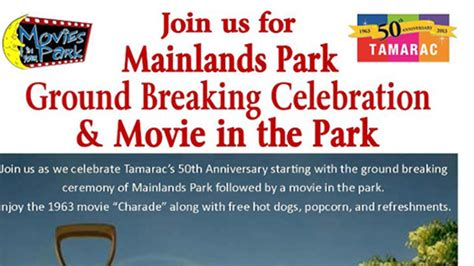 tamaracs mainlands park groundbreaking celebration tamarac talk