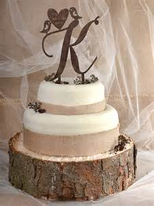 wedding cake toppers initials rustic cake topper wood cake topper monogram by forlovepolkadots