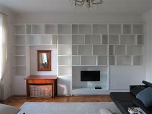 Bücherwand Mit Tv : b cherwand integrierter tv und schreibtisch ~ Michelbontemps.com Haus und Dekorationen