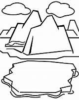 Glacier Coloring Iceberg Pages Clipart Habitat Sheet Crayola Drawing Cliparts Polar Arctic Cards Clipartkid Animals Crayons Grab George Glaciers Print sketch template