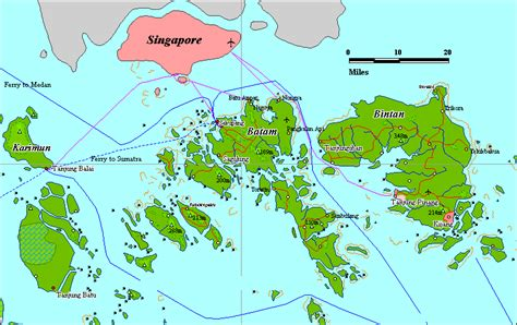 amazing indonesia batam  bintan island map