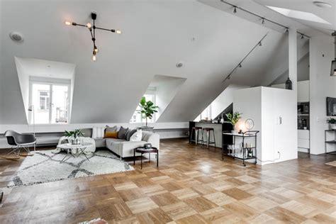Beautiful Attic Apartment With Clever Design Features : Exclusive Attic Apartment Design In Stockholm