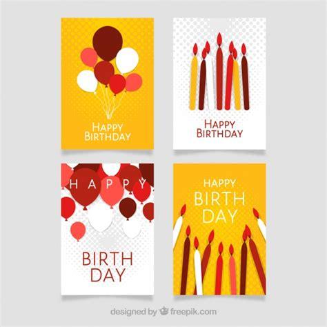 modern birthday card designs  vector