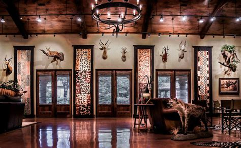 trophy room rustic family room austin  younique