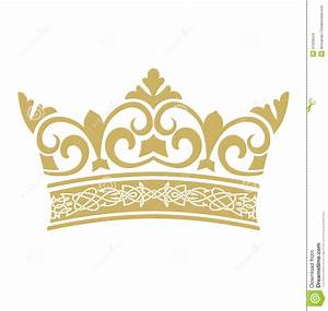 Golden Crown In Vectors Stock Vector - Image: 41229044