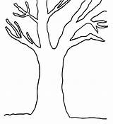 Tree Trunk Coloring Bare Pages Clipart Leaves Without Colouring Branches Cliparts Fall Printable Clip Template Stump Empty Simple Trees Adults sketch template