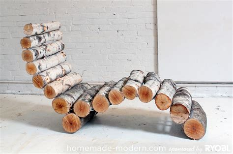great diy log lounge chair for your outdoors my desired home