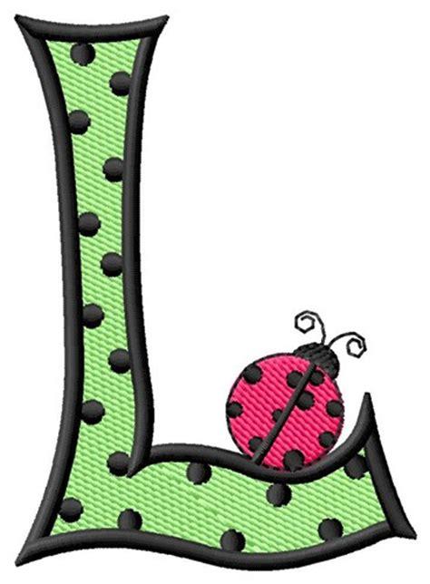 letter l design ladybug letter l embroidery design annthegran 52578
