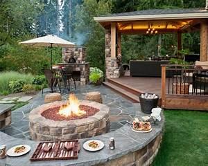 Feuerstelle Mit Sitzgelegenheit : wie k nnen sie eine feuerstelle bauen 60 fotobeispiele ~ Whattoseeinmadrid.com Haus und Dekorationen