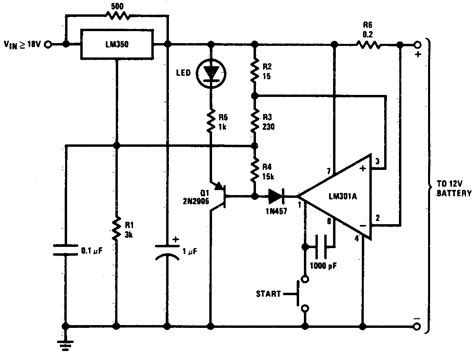 gt circuits gt dc 12v battery charger circuit schematic