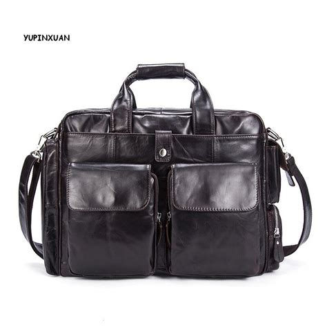 Cowhide Briefcase by Yupinxuan Cow Leather Briefcases For Retro Cowhide