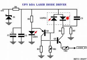 realtime control upn laser transceiver circuit description With laser diode circuit
