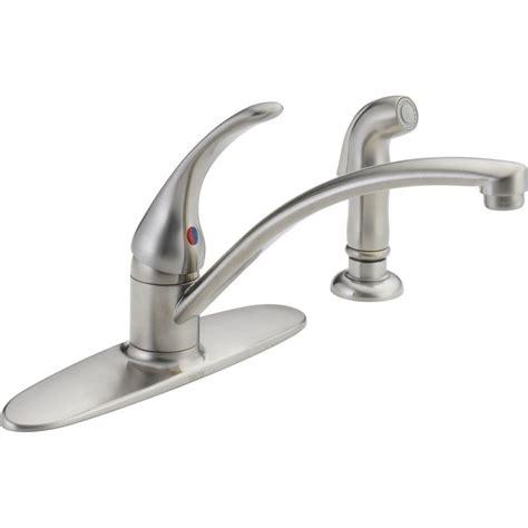 delta kitchen faucet sprayer delta foundations single handle standard kitchen faucet