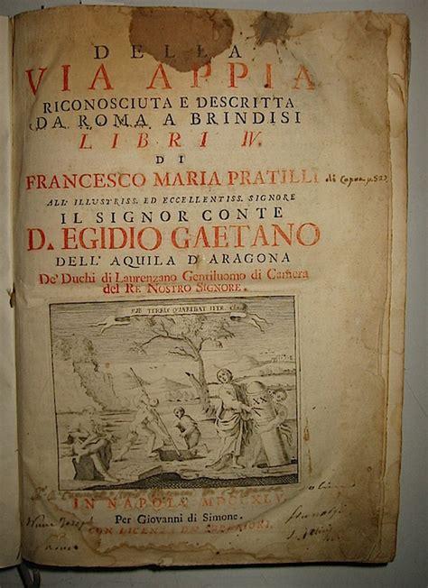 libreria via appia ex libris roma libreria antiquaria pratilli francesco