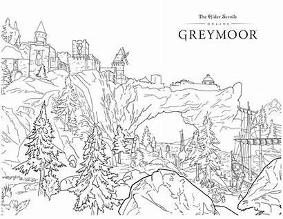 Coloring Skyrim Greymoor Scrolls Elder Creative 5x11