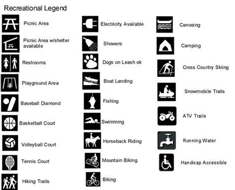 room 167 exles of map legends and map symbols