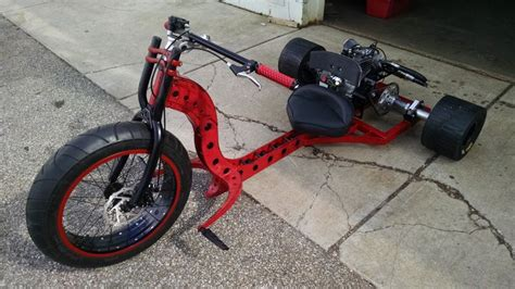 Custom Fat Axle Motorized Drift Trike.. Funky Fork Design