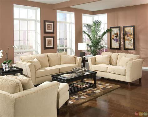 Park Place Velvet Upholstered Living Room Furniture Set