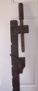 antique wooden bar clamp
