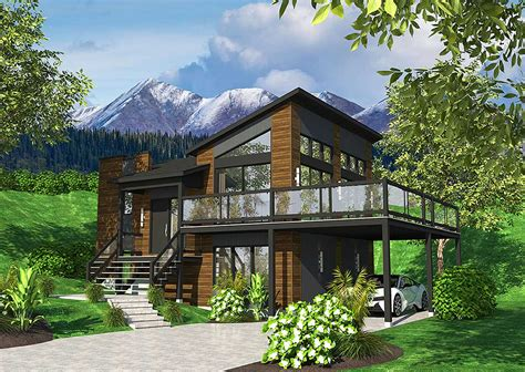 Contemporary House Plans by Exciting Contemporary House Plan 90277pd Architectural