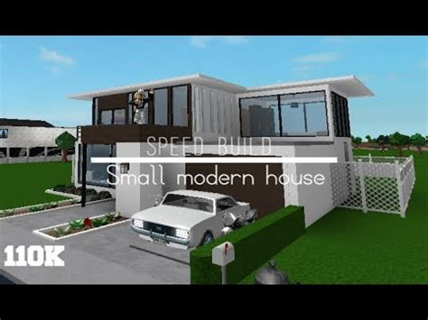 Small Modern House 110k  Speed Build  Roblox Bloxburg
