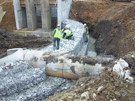 gabion walls delong construction  earth movers