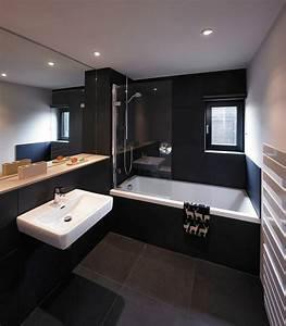 salle de bain noire 20 exemples captivants With salle de bains noire