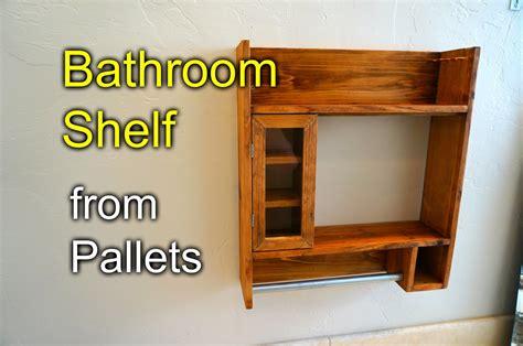 storage bathroom ideas bathroom shelf from pallet wood how to