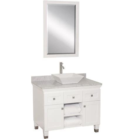 single vessel vanity 36 quot premiere single vessel vanity white