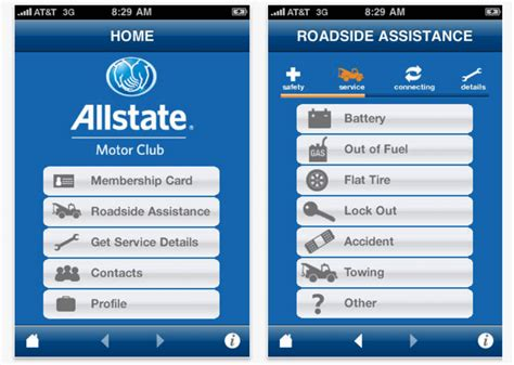 allstate roadside assistance phone number two handy apps from allstate