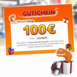 Gutscheine Für Den Freund : geschenk gutschein 100 euro monsterzeug geschenk gutschein ~ Kayakingforconservation.com Haus und Dekorationen