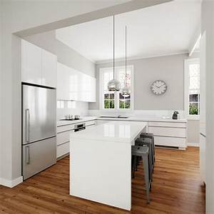 25 best ideas about modern white kitchens on pinterest for Kitchen colors with white cabinets with modern black and white wall art
