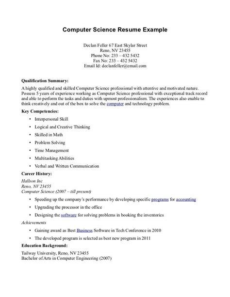 computer science resume templates httptopresumeinfo
