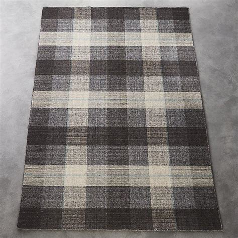 pink  brown plaid indoor outdoor rug